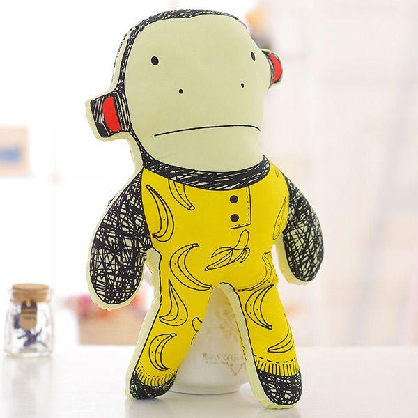 40CM Super Soft Pillow Doll Cartoon Monkey Shape Children's Plush Toy