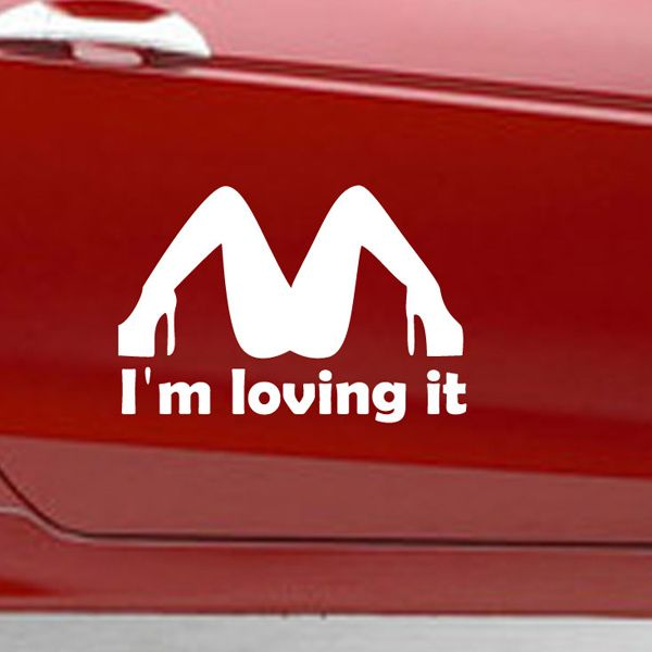 Fashion Waterproof High Heel Pattern Car Sticker For Automotive Decorative Supplies