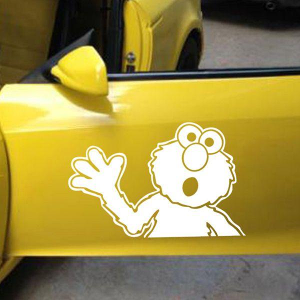 Fashion Waterproof Sesame Street Pattern Car Sticker For Automotive Decorative Supplies