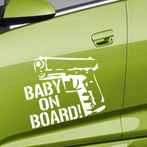 Fashion Waterproof Gun Pattern Car Sticker For Automotive Decorative Supplies