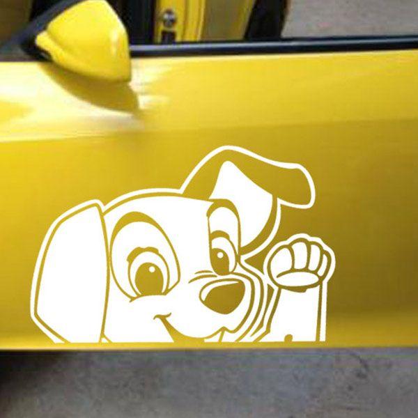 Fashion Waterproof Puppy Pattern Car Sticker For Automotive Decorative Supplies