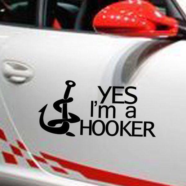 Chic Waterproof Hook Pattern Car Sticker For Automotive Decorative Supplies