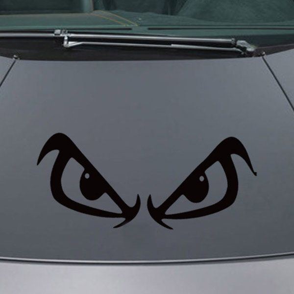Chic Waterproof Angry Eyes Pattern Car Sticker For Automotive Decorative Supplies