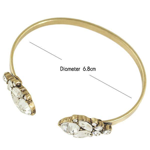 Rhinestone Embellished Plated Bracelet