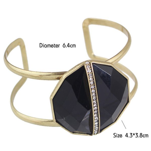 Rhinestone Geometric Faux Gem Bracelet