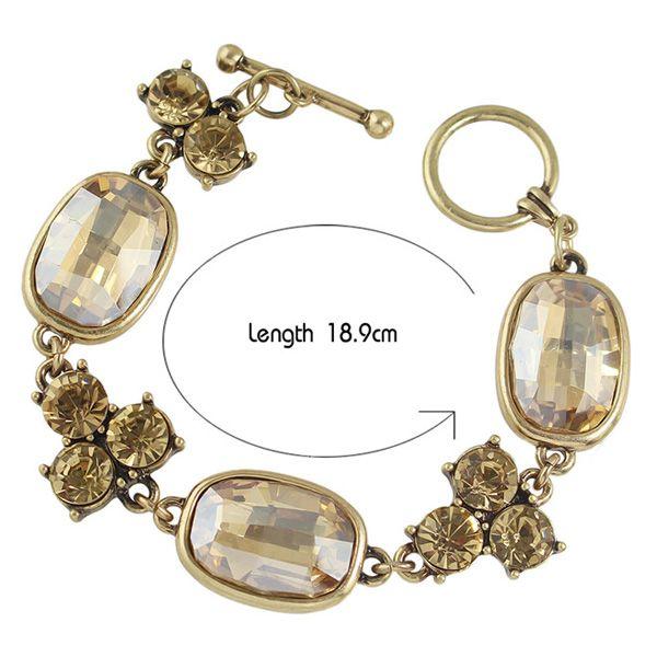 Faux Crystal Embellished Bracelet