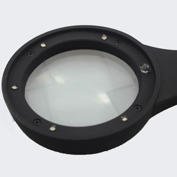 Multifunctional Magnifying Glass Counterfeit Detector Hand Loupe with 6 LED Lights