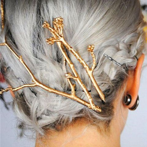 Chic Solid Color Branch Hairpin For Women