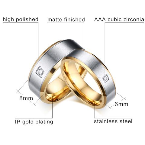 One Piece Gold Plated Alloy Rhinestone Ring