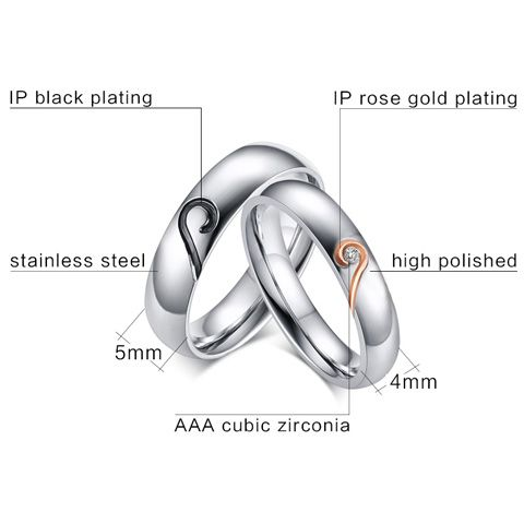 One Piece Love Puzzles Silver Plated Rhinestone Ring
