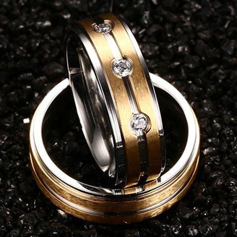 ONE PIECE Retro Rhinestone Gypsy Setting Ring