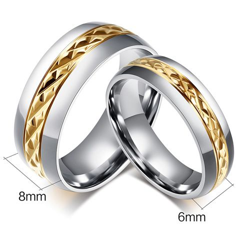 One Piece Punk Style Rhombic Gold Plated Alloy Ring For Men