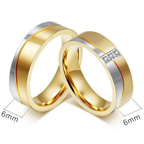 One Piece Bicolourable Alloy Ring