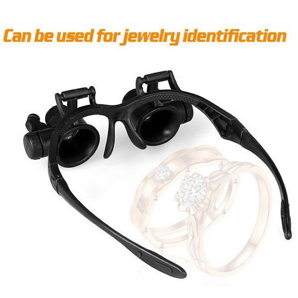 4 x Lens Adjustable Loupe Headband Magnifying Glass with LED Light For Jeweler Watch Repair