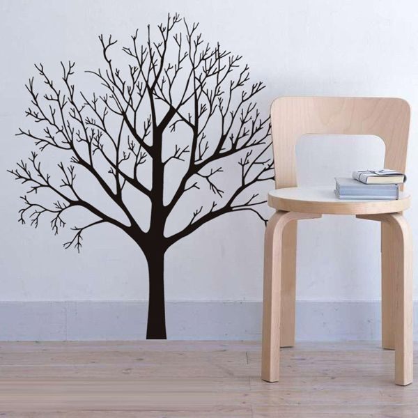 Simple Style Big Tree Pattern Wall Sticker For Livingroom Bedroom Decoration