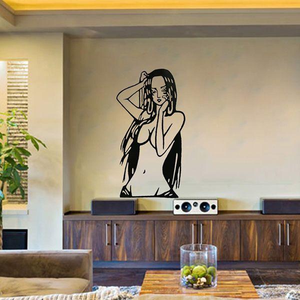 Creative Cartoon Beauty Girl Pattern Wall Sticker For Livingroom Bedroom Decoration