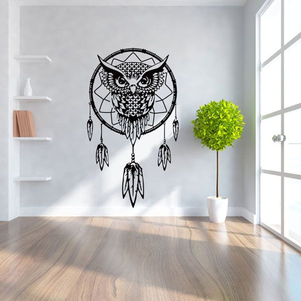 Ethnic Owl Pattern Wall Sticker For Livingroom Bedroom Decoration