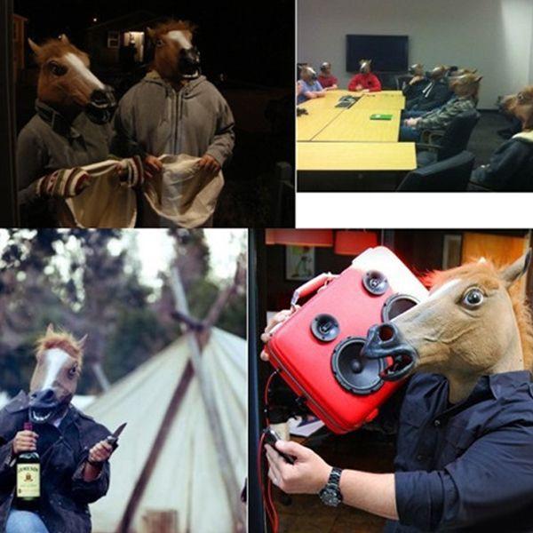 Halloween Supplies Horse Mask Gangnam Style Cosplay Prop
