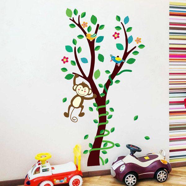 Sweet Cartoon Forest Monkey Removable DIY Wall Sticker For Childern