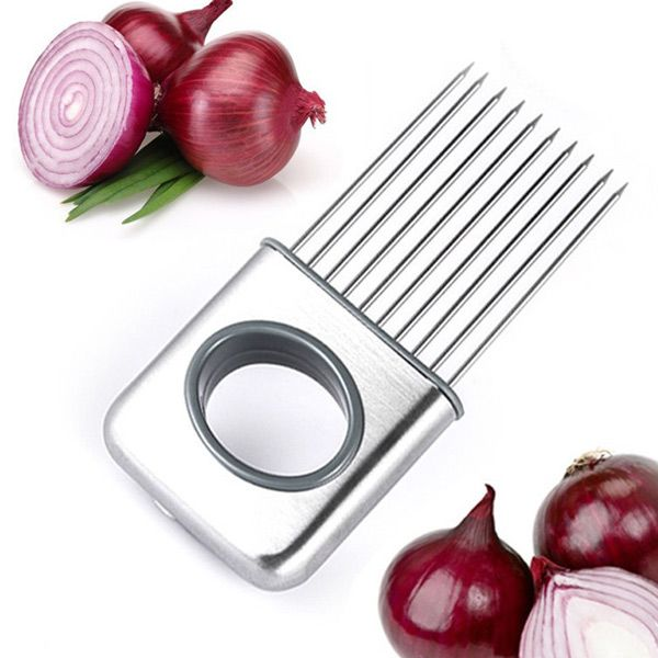 Hot Kitchen Cooking Tool Vegetable Cutter Stainless Steel Onion Slicers