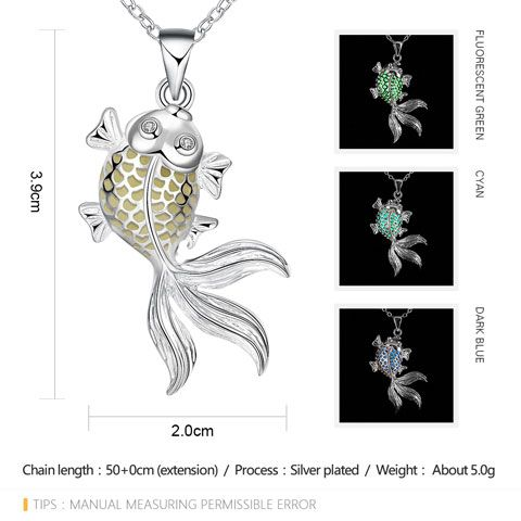 Noctilucent Cut Out Goldfish Necklace
