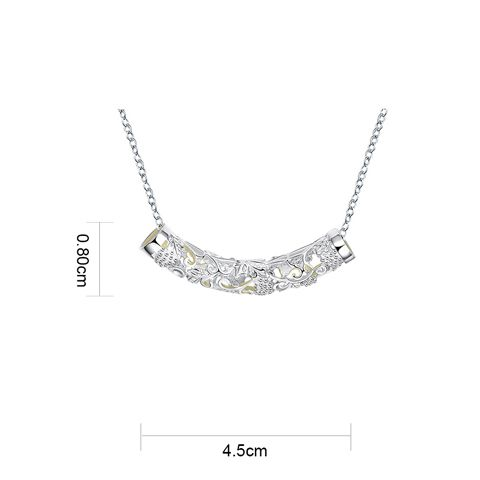 Bar Cut Out Noctilucent Necklace