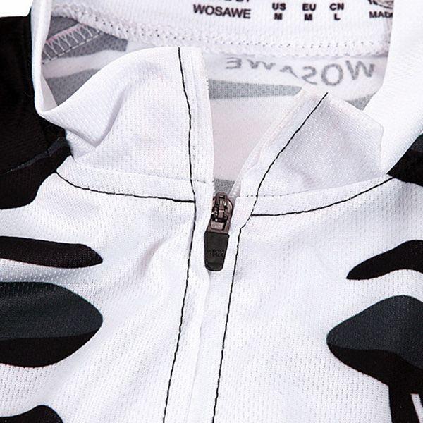 Summer Sportswear Jerseys+Shorts Skeleton Pattern Cycling Sets For Outdoor Sport