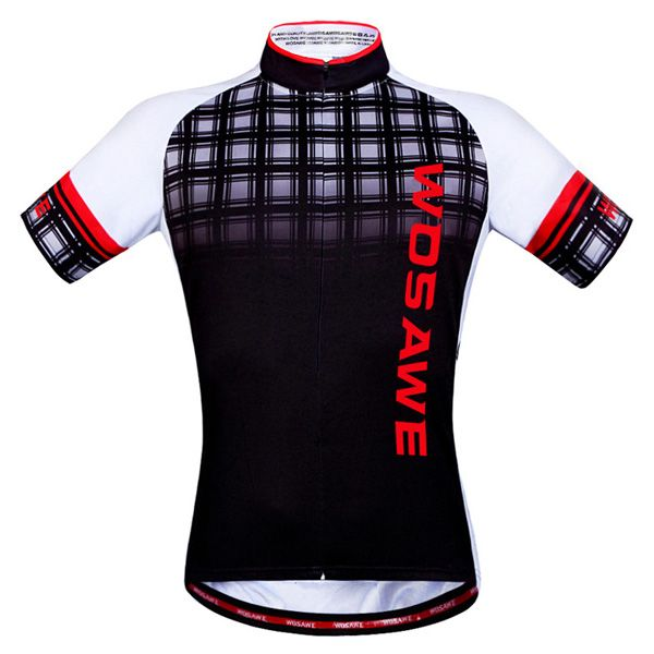 Summer Sportswear Jerseys+Shorts Plaid Pattern Cycling Sets For Outdoor Sport