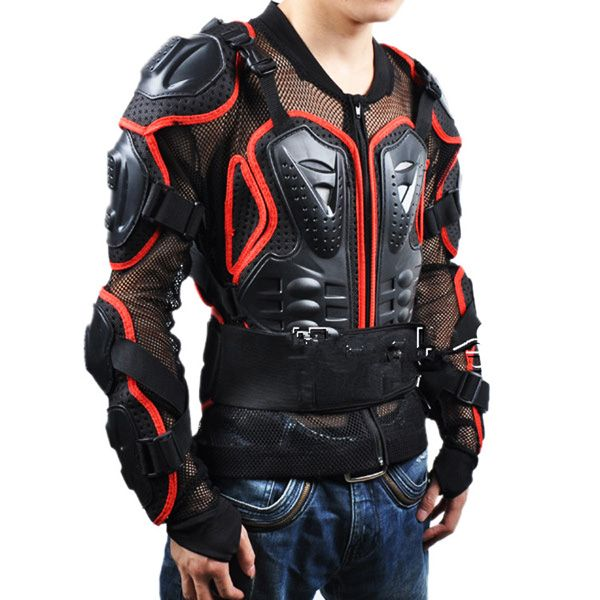 Black Safety Jackets Jerseys Men's Hockey Motorcycle Armor For Outdoor Sport
