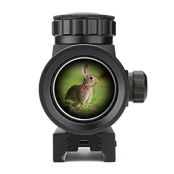 Hot 1X30RD Flashlight Direct Optical Aiming Monocular Telescope For Outdoor Hunting