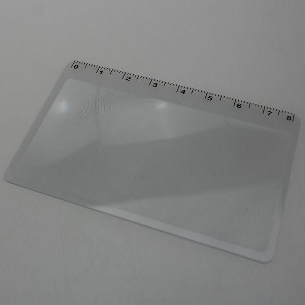 10PCS Hot Sale Transparent Fresnel Credit Card Scale Magnifying Glass