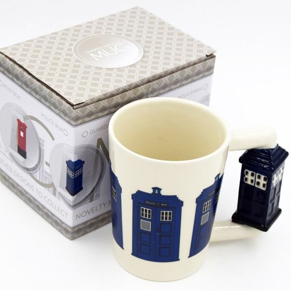 Creative 3D Cartoon Police Station Shape Handle Coffee Cup Ceramic Mug
