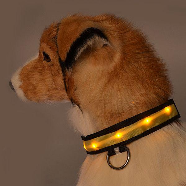 Eye-Catching Dotted LED Luminous Night Walk Nylon Dogs Collar