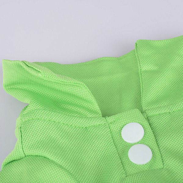 Stylish Fastener Design Solid Color POLO Shirt For Dogs