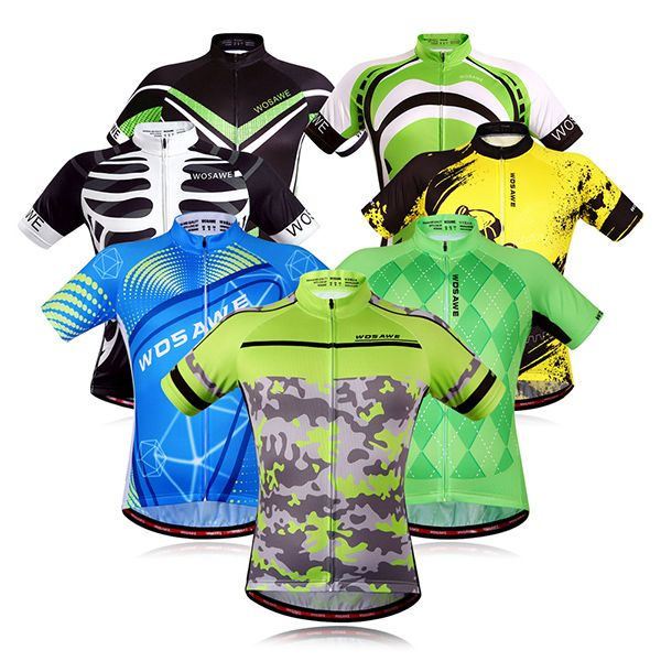 Fashionable Plaid Pattern Short Sleeve Summer Cycling Jersey For Men