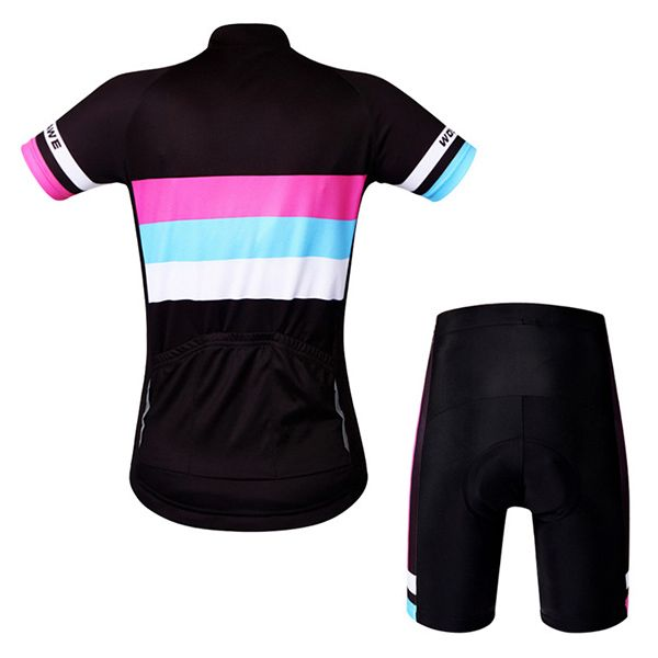 High Quality Simple Style Short Sleeve Jersey + Shorts Outdoor Cycling Suits For Women