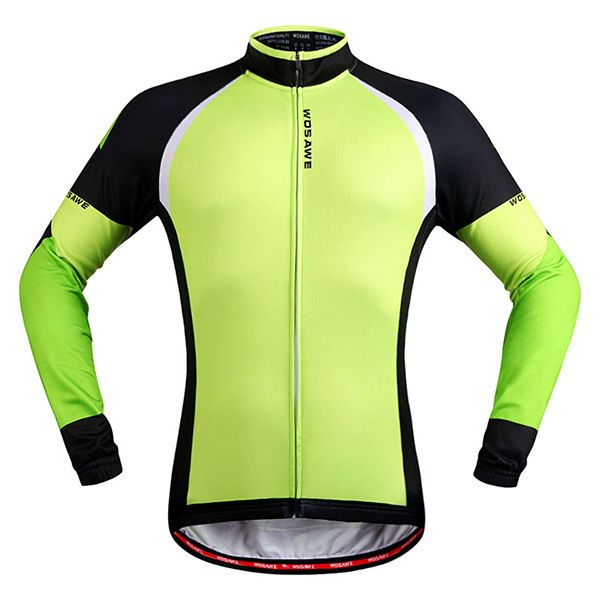 Stylish Windproof Long Sleeve Thermal Fleece Cycling Jacket For Unisex