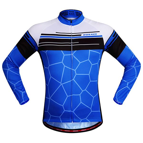 Simple Irregular Pattern Quick Dry Cycling Long Sleeve Jersey For Unisex
