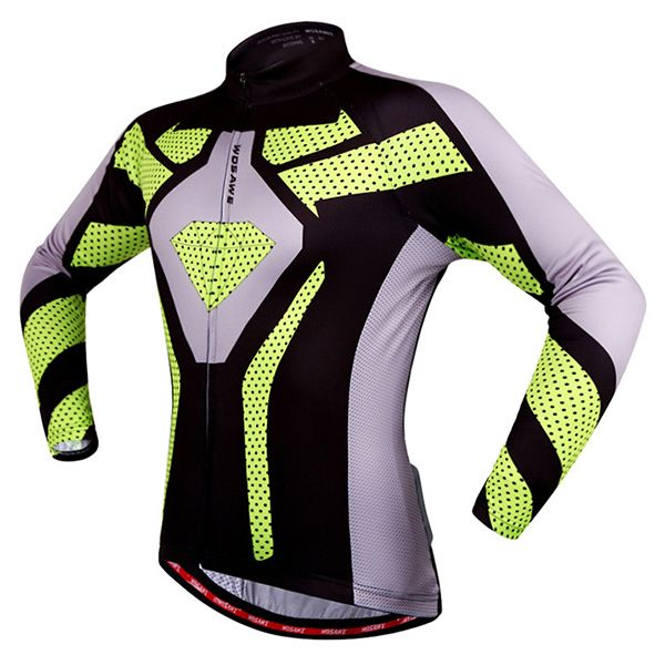 Fashion Polka Dot Pattern Breathable Quick Dry Cycling Long Sleeve Jersey For Unisex