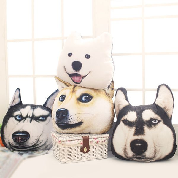 Creative 3D Akita Home Decoration Dog Shape Design Pillow