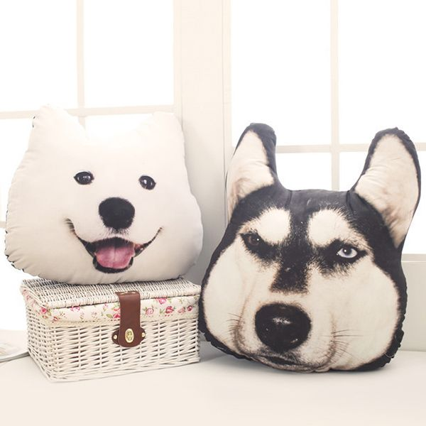 Creative 3D Huskie Home Decoration Dog Shape Design Pillow