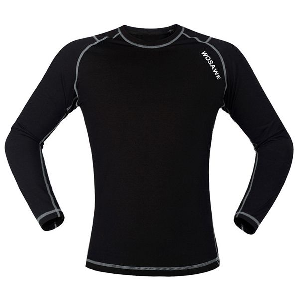 Professional Warmth Thermal Fleece Base Layer Cycling Long Sleeve Jersey For Unisex