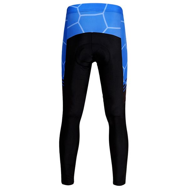 Fashion Geometric Pattern Breathable Gel Padded Tight Cycling Pants For Unisex