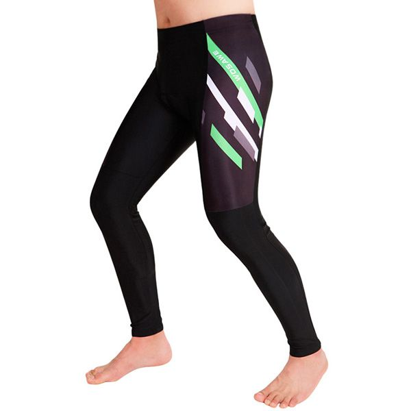 Simple Pattern Breathable Gel Padded Tight Cycling Pants For Unisex