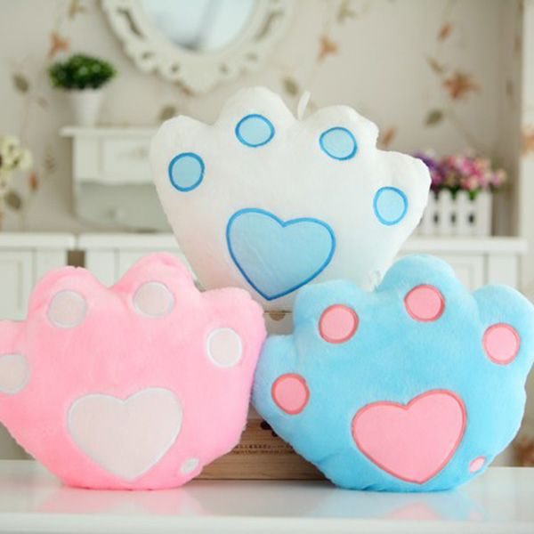 Creative Bear's Pow Shape Valentine's Day Gift Luminous Pillow
