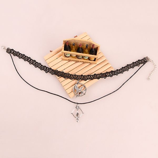 Bohemia Style Lacework Bow and Arrow Necklace