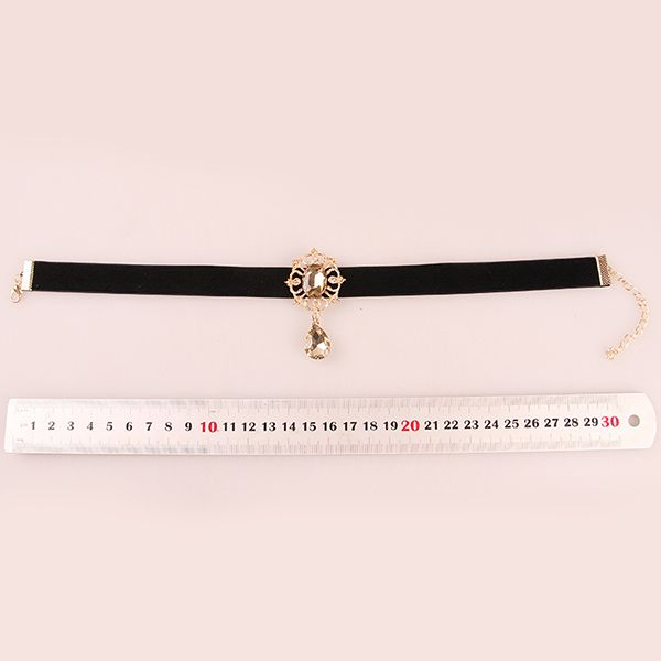 Gorgeous Lolita Gold  Crystal Choker Necklace For Women