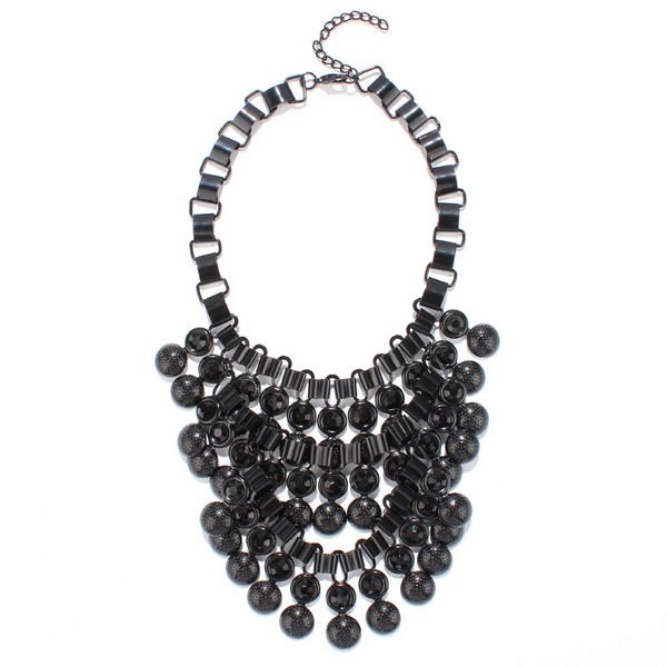 Rhinestone Bubble Chunky Necklace