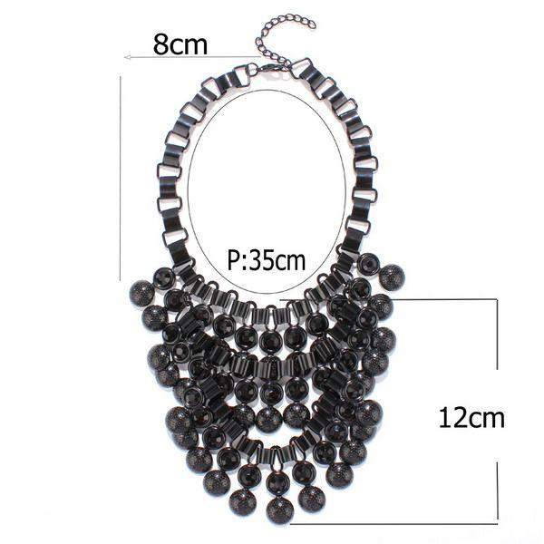 Rhinestone Bubble Chunky Necklace