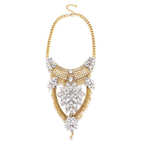 Vintage Hollow Out Water Drop Necklace